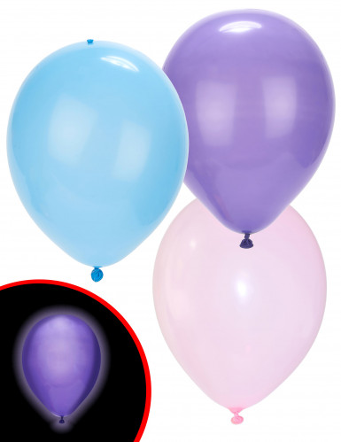 5 Balões LED coloridos cor pastel Illooms®