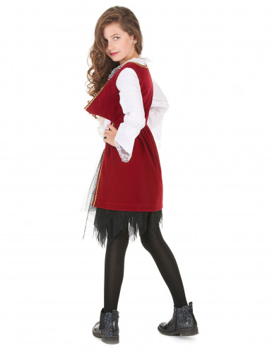 Disfarce pirata veludo vermelho e preto menina-2