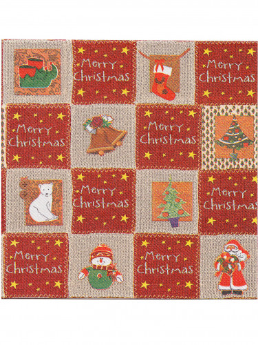 12 Guardanapos de papel Premium Merry Christmas