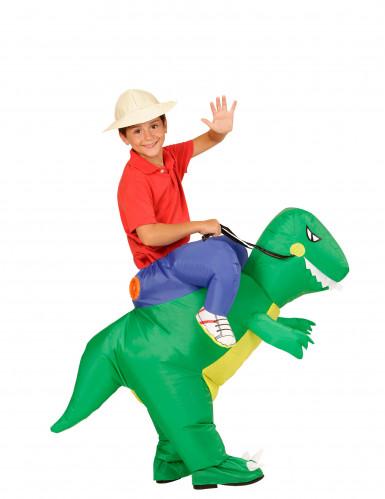 Disfarce explorador às costas de um dinossauro criança-1