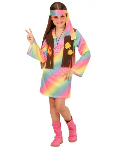 Disfarce hippie colorido menina