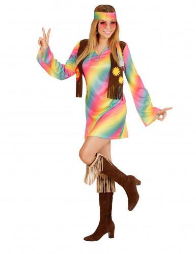 Disfarce hippie às cores mulher-1