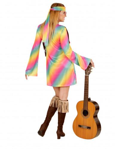 Disfarce hippie às cores mulher-2