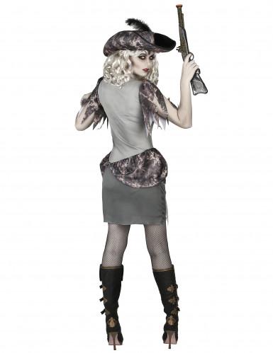 Disfarce pirata fantasma cinzenta mulher-2
