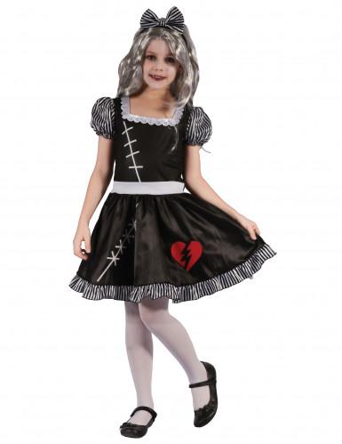 Disfarce boneca coração partido menina
