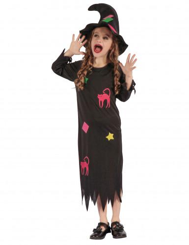 Disfarce bruxa engraçada menina