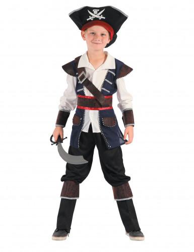 Disfarce pirata dos mares para menino
