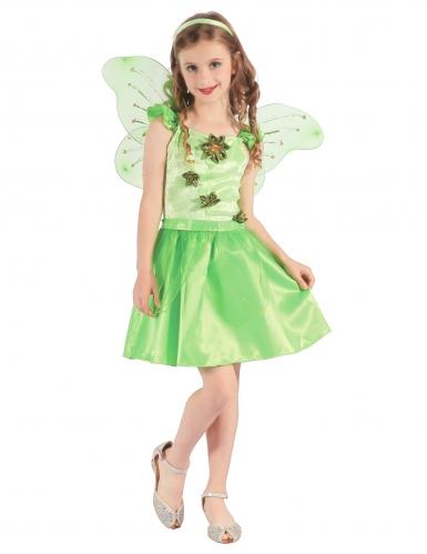 Disfarce fada verde menina