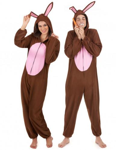 Disfarce de casal coelho castanho