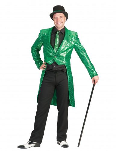 Casaco verde com lantejoulas homem