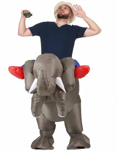 Disfarce elefante insuflável adulto-1