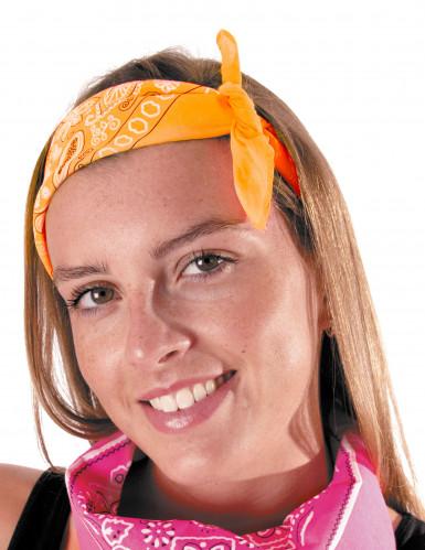 Bandana cor de laranja adulto