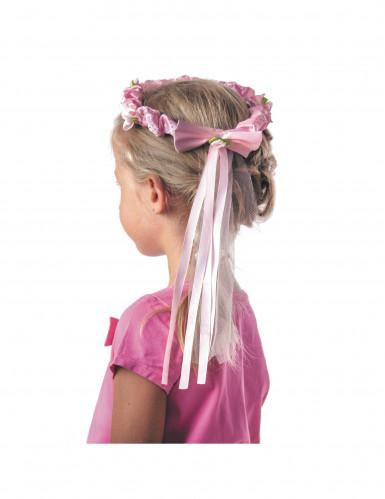 Coroa de flores com fita menina-1