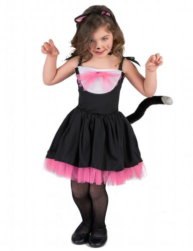 Disfarce Gato preto e cor-de-rosa menina