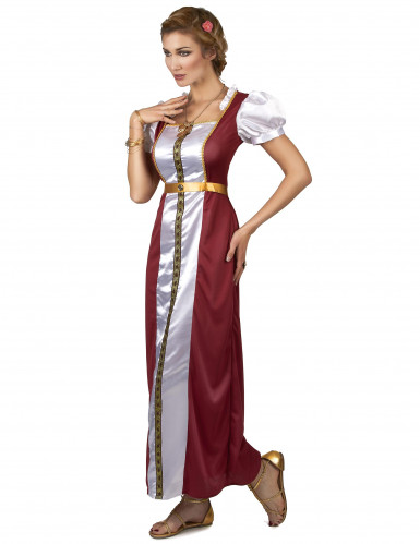 Disfarce rainha época medieval mulher-1
