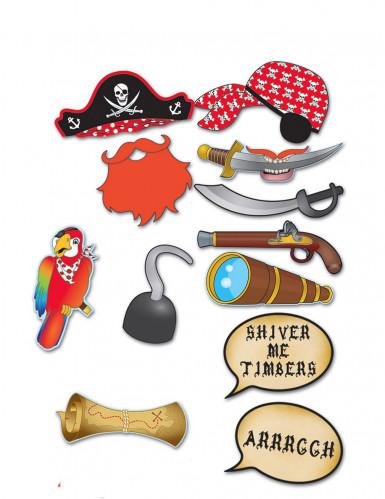 Kit photobooth 12 peças pirata