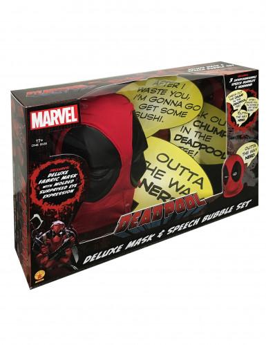 Carapuço luxo Deadpool™ adulto com balões de texto-1