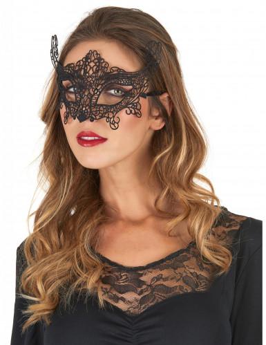 Máscara de Veneza cor preta - mulher