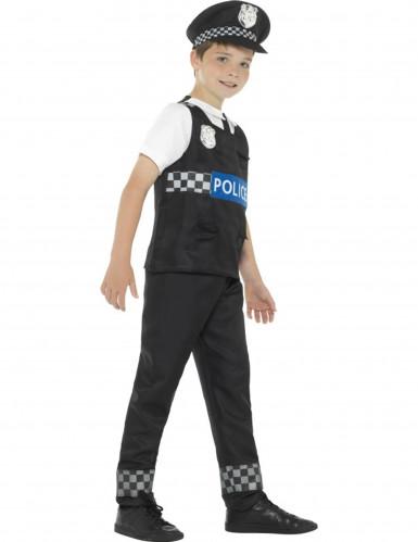 Disfarce polícia preto e branco menino-1