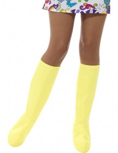 Cobre-botas amarelos mulher