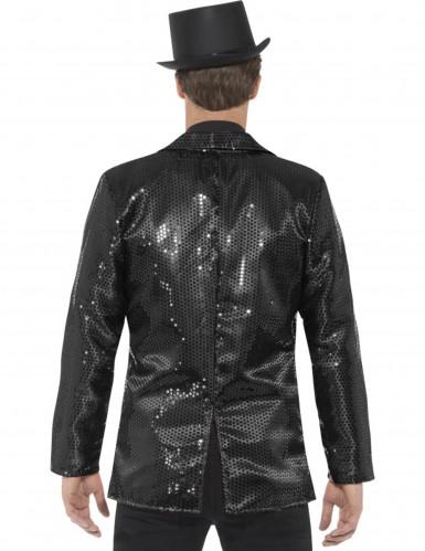 Casaco disco preto com lantejoulas luxo homem-2