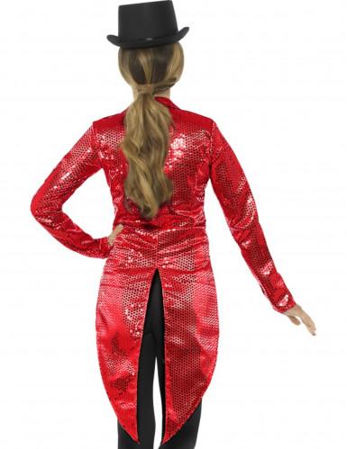 Casaco vermelho com lantejoulas mulher-1