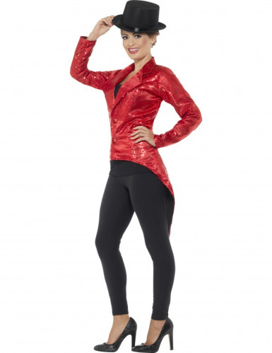 Casaco vermelho com lantejoulas mulher-2