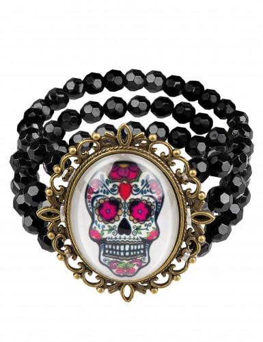Bracelete gótico dia dos mortos - mulher