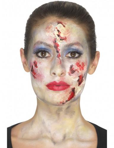 Kit de maquilhagem princesa zombie mulher Halloween-2