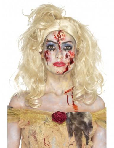 Kit de maquilhagem princesa zombie mulher Halloween-3