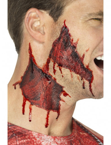 Tatuagens temporárias pele rasgada adulto Halloween