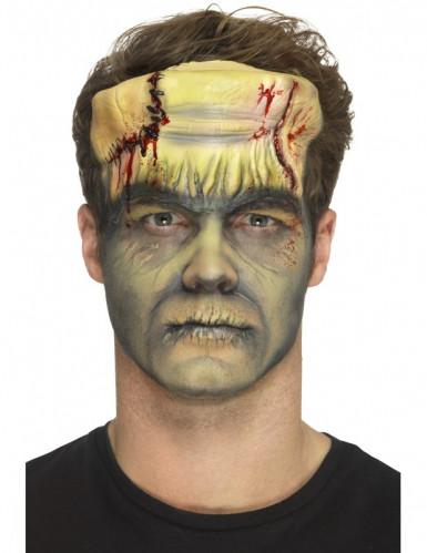 Prótese em mousse látex monstro verde adulto Halloween-1