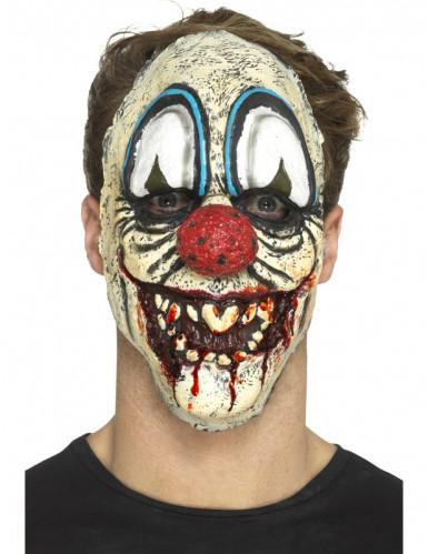 Prótese emmousse látex palhaço sinistro adulto Halloween-2