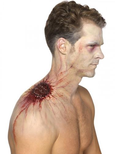 Prótese látex mordida infeccionada adulto Halloween-1