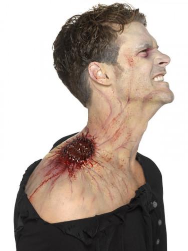 Prótese látex mordida infeccionada adulto Halloween-2