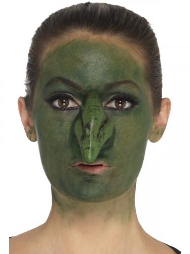 Prótese em mousse látex nariz de bruxa adulto Halloween-1