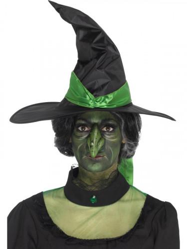 Prótese em mousse látex nariz de bruxa adulto Halloween-2