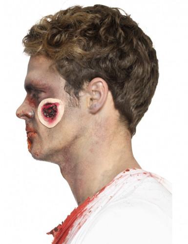 Prótese látex feridas sangrentas adulto Halloween-3