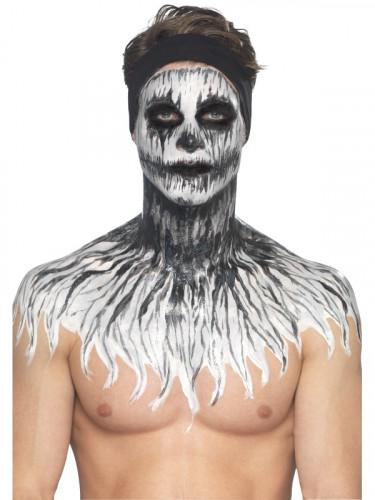 Maquilhagem látex esqueleto fosforescente mulher Halloween-1