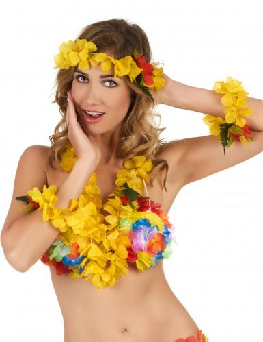 Kit Hawaí amarelo - adulto