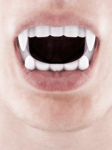 Dentadura de vampiro branca