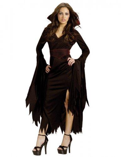 Disfarce gótico de vampiro Halloween mulher