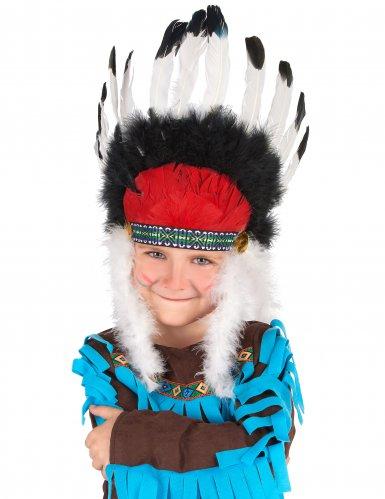Chapéu chefe índio com penas criança
