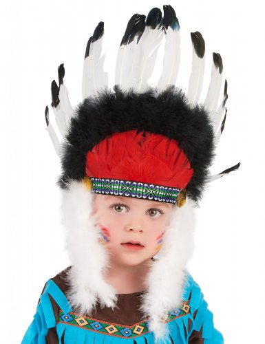 Chapéu chefe índio com penas criança-1
