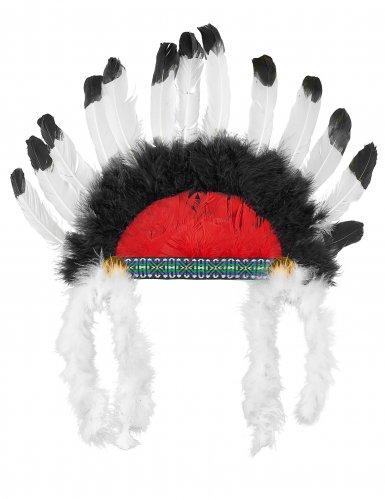 Chapéu chefe índio com penas criança-2
