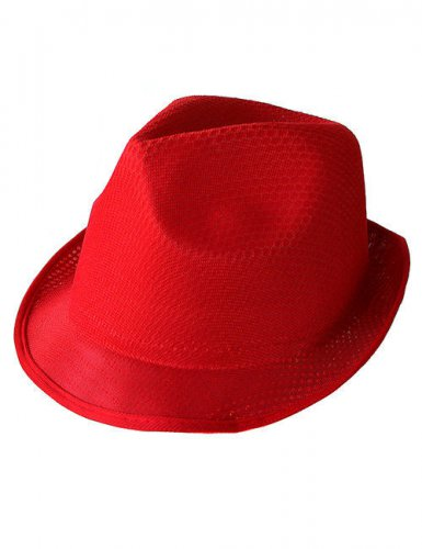 Chapéu Trilby vermelho
