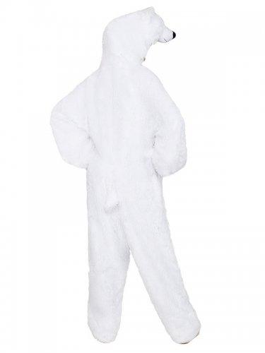 Disfarce pelúcia urso polar adulto-2