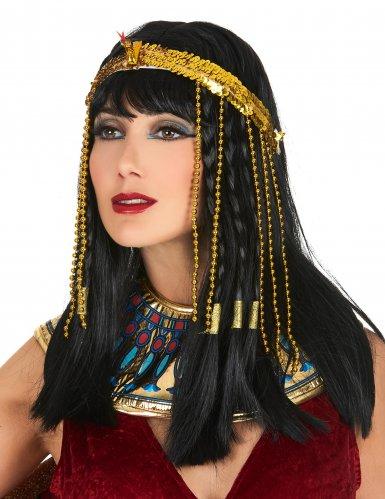 Bandana lantejoulas serpente egípcia dourada - mulher
