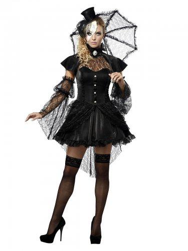 Disfarce boneca gótica mulher Halloween