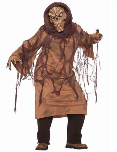 Disfarce esqueleto castanho adulto